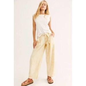 Free People Yellow Paloma Slouch Jean 26